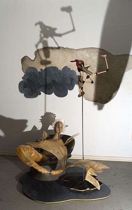 Judith WRIGHT 'Destination' (detail) 2013 | mixed media | dimensions variable | installation view: artist's studio | photo: Carl Warner