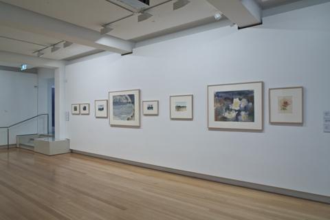 Installation view of 'Remarks on Colour: Australian watercolours' 2011 | Photo: Richard Stringer
