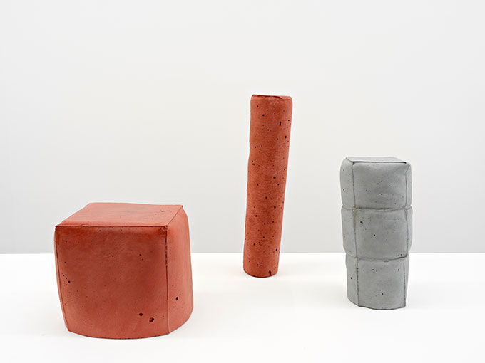 Anna HORNE 'A balancing act group of three' 2017, concrete. Courtesy the artist.