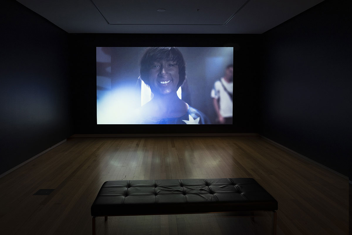 Installation view of 'Rite of Passage', pictured work by Megan Cope, QUT Art Museum, 2019. Photo by Carl Warner.