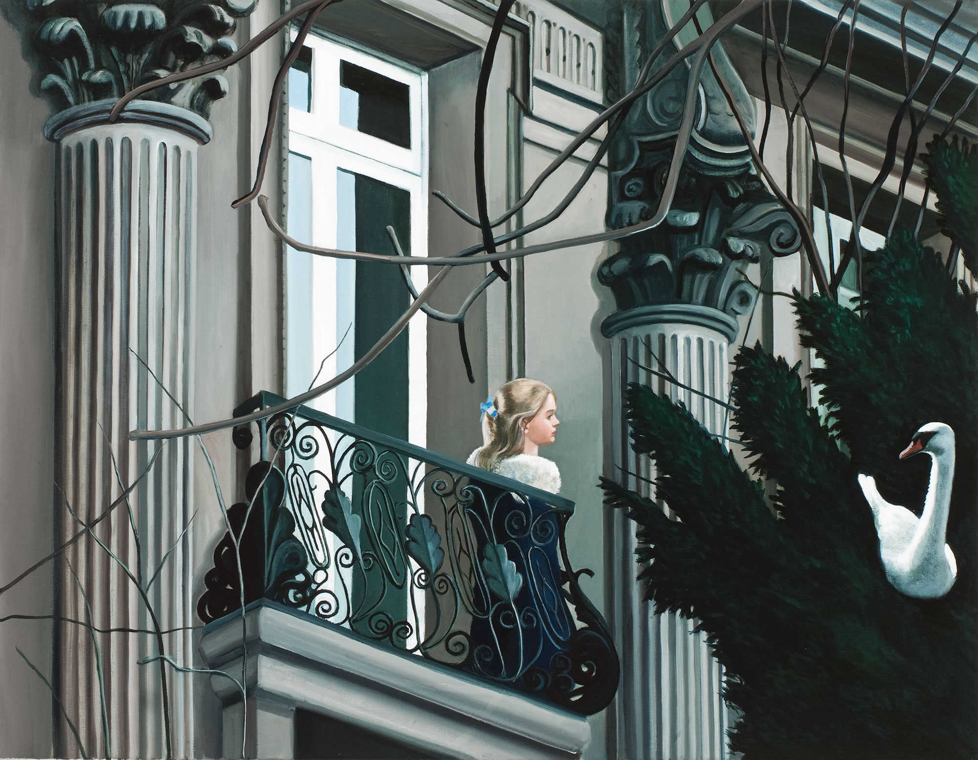 Anne WALLACE 'Rich Girl, Avenue Foch' 2010 | oil on canvas | Collection of Alison Green, Sydney