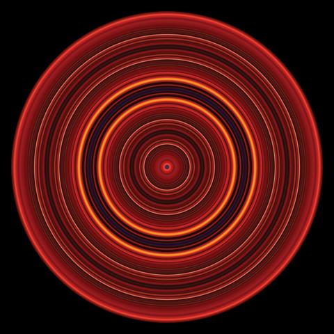 Paul Snell 'Pulse #201001' 2011 | Unique lambda metallic print