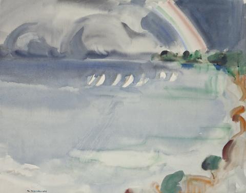 Joy Roggenkamp 'The Rainbow' 1976 | Watercolour | Gift of the McCowan family, 2005 | QUT Art Collection, Brisbane