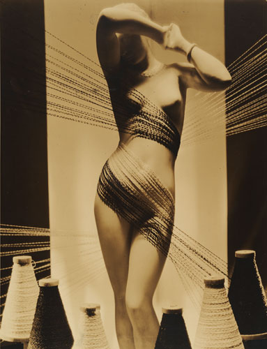 Anton Bruehl 'Knitted-to-order sport clothes' 1932 | advertisement for Bonwit Teller department store | gelatin silver photograph | National Gallery of Australia, Canberra | Gift of American Friends of the National Gallery of Australia Inc., New York NY USA | made possible with the generous support of Anton Bruehl Jr, 2006