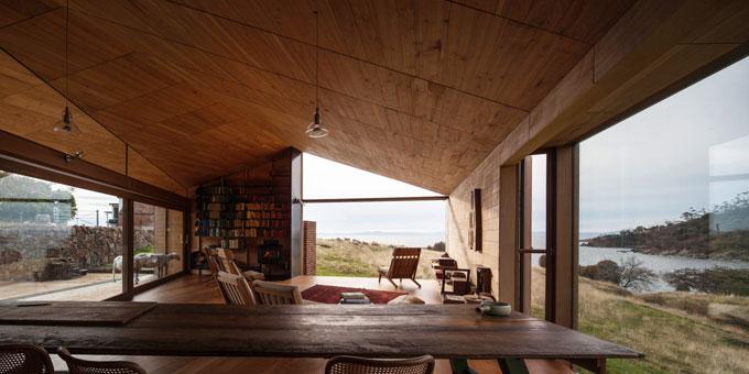 John WARDLE 'Shearers quarters' 2011 | Bruny Island, Tasmania | Macrocarpa pine, recycled wood | Photo: Trevor Mein