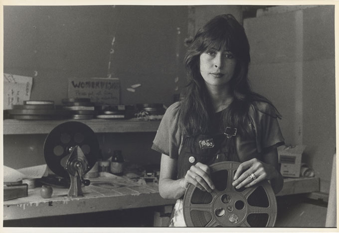 Carol JERREMS 'Jane Oehr, Womenvision', Filmaker's Co-Op, 1973 | gelatin silver photograph | National Gallery of Australia, Canberra | Gift of Mrs Joy Jerrems 1981 | copyright Ken Jerrems and the Estate of Lance Jerrems