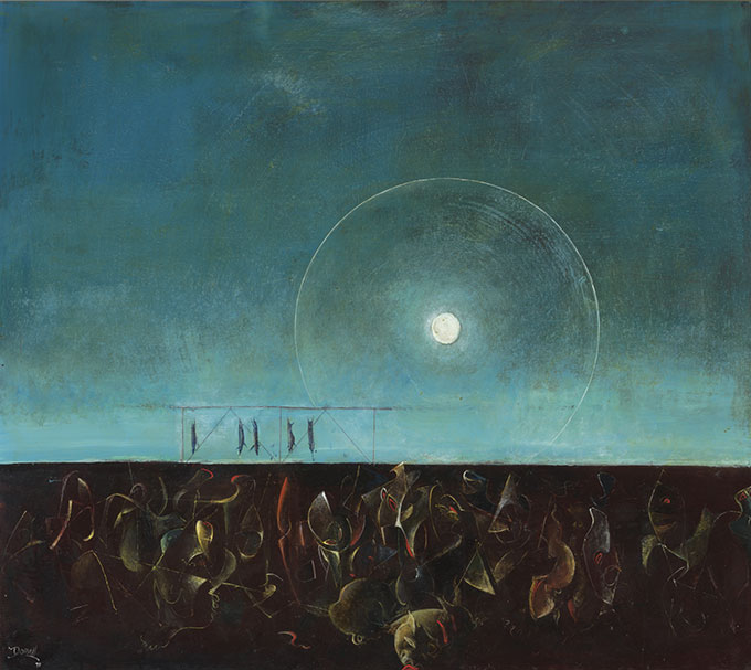 William DOBELL 'The night of the pigs' 1970 | oil on hardboard | Art Gallery of New South Wales, Sydney | Purchased 1971