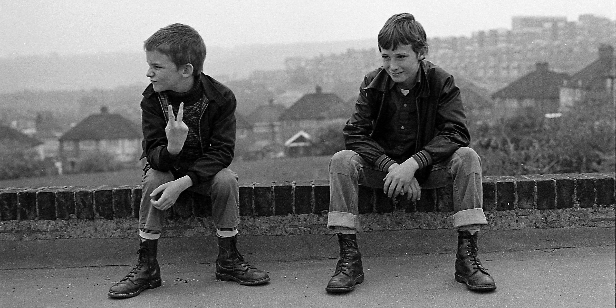 Gavin WATSON \'Neville and Gary up the local park\' 1980, Black and white photograph on gloss paper, Courtesy of the artist