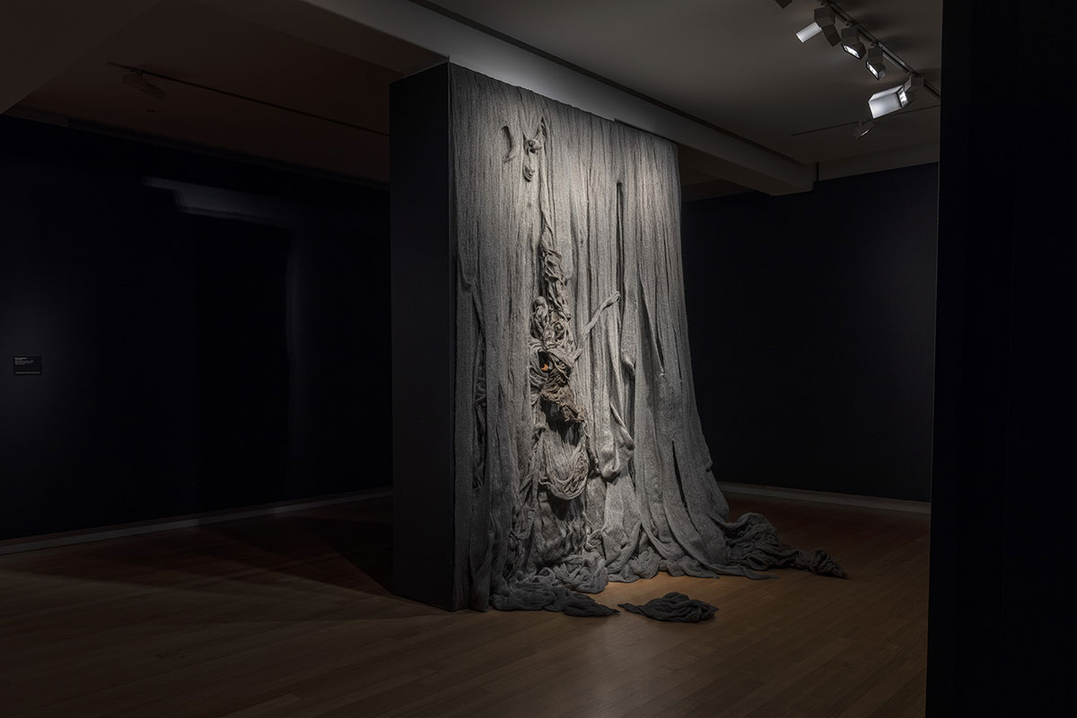 Installation view of 'Rite of Passage', pictured work by Mandy Quadrio, QUT Art Museum, 2019. Photo by Carl Warner.