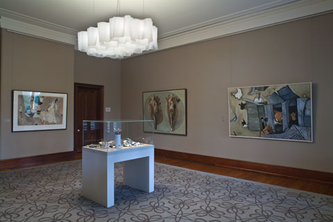 Installation view of 'William Robinson: The Transfigured Landscape' 2011 | Photo: Richard Stringer