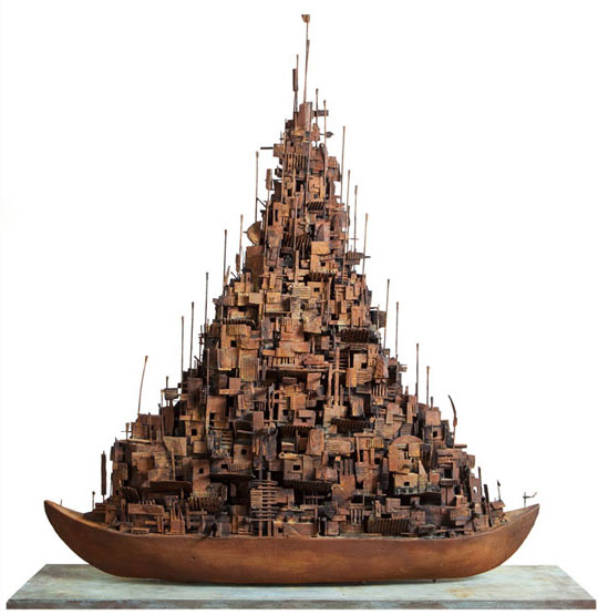 Alfredo and Isabel AQUILIZAN 'Refuge: Project: Another Country' 2012 | wood and cardboard | QUT Art Collection | Purchased 2013