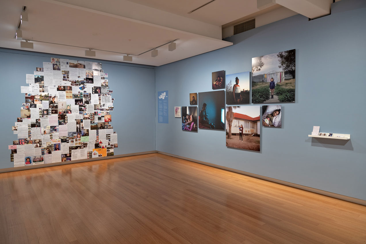 Installation view of 'Exchange value' (16 February - 28 April 2019), QUT Art Museum, 2019. Image copyright Mick Richards.