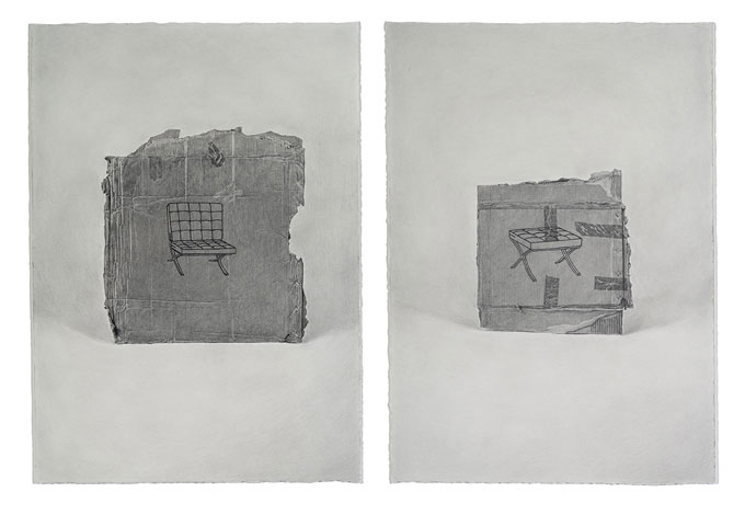 Sam CRANSTOUN 'Strategies for cultural dissemination: Plano I and II' 2013 | pencil on paper | QUT Art Collection | Purchased 2013