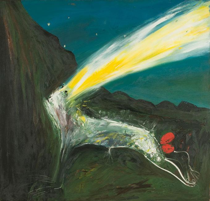 Arthur BOYD 'Nebuchadnezzar being struck by lightning' 1968-69 | oil on canvas | Bundanon Trust Collection