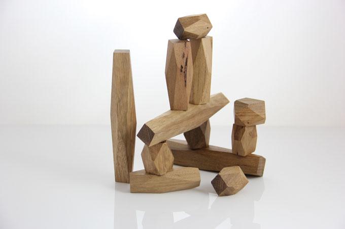 Joe CHESTER 'Conceptual building blocks' 2011 | reclaimed Australian hardwood or sustainably grown Oregon | Photo: Brad Bonar