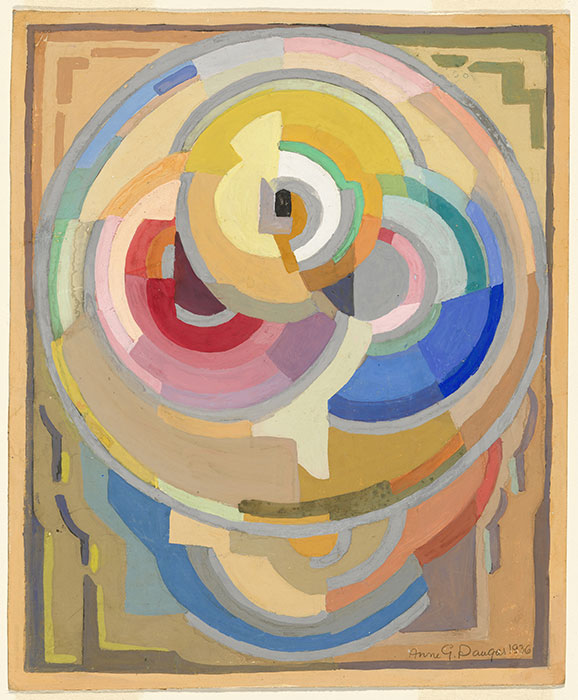 Anne DANGAR  'Un composition, pochoir' 1936  drawing in brush and gouache  National Gallery of Australia, Canberra  Purchased 2002  Courtesy National Gallery of Australia, Canberra