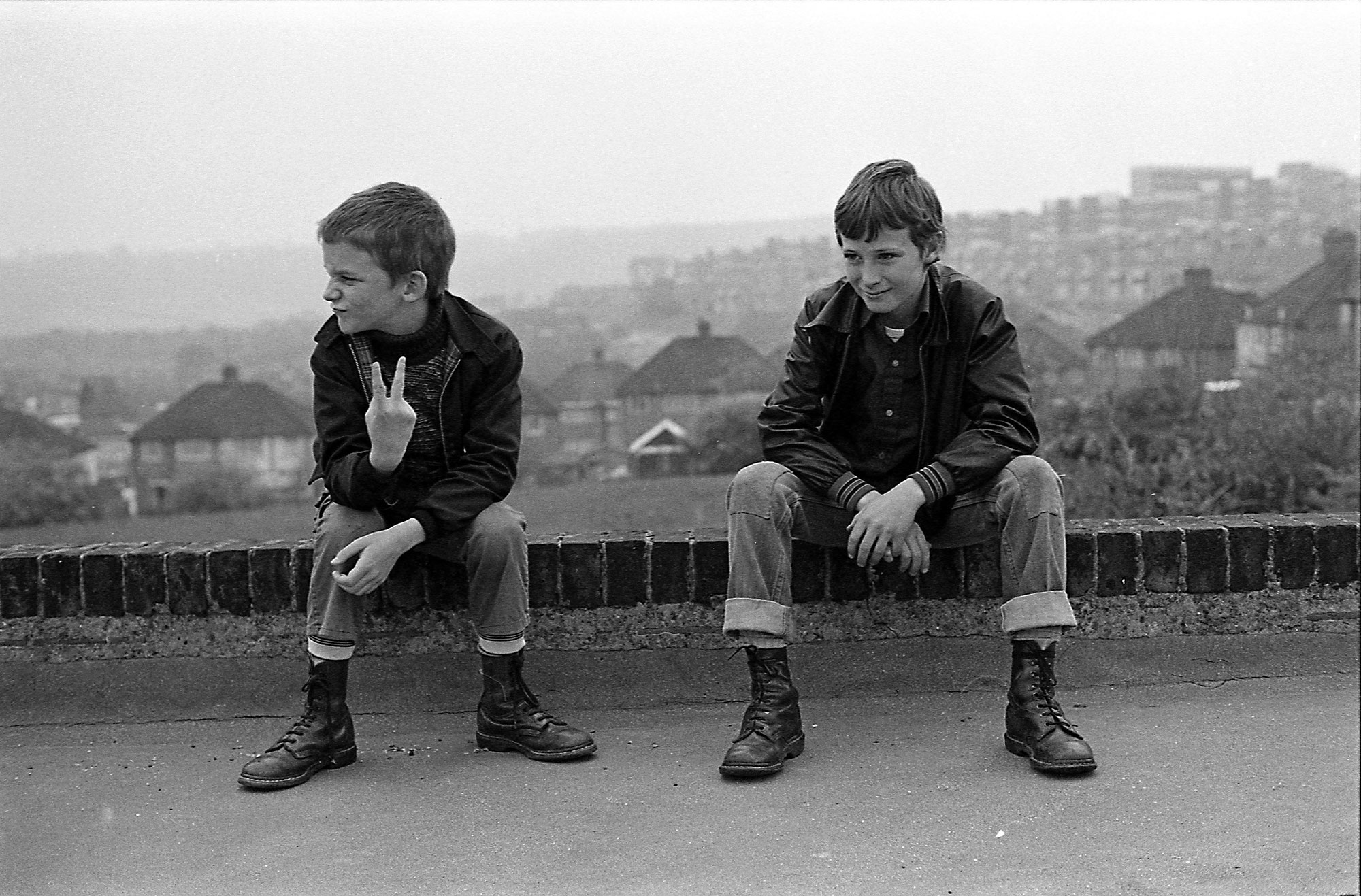 Gavin WATSON 'Neville and Gary up the local park' 1980, Black and white photograph on gloss paper, Courtesy of the artist