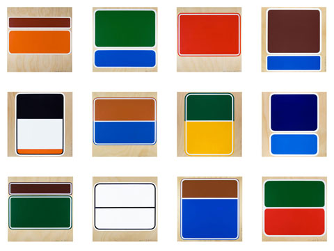 Peter Atkins 'Hume Highway Project' 2010 | 12 colour screenprints | QUT Art Collection | Purchased 2010
