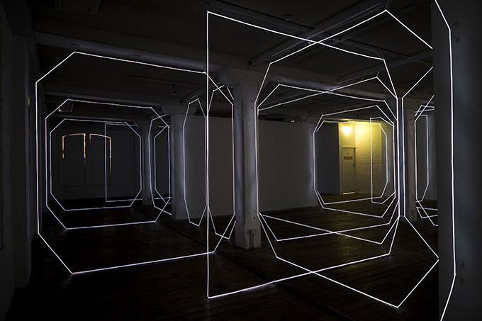 Megan STREADER 'W-inter' 2016 | electroluminescent wire | Courtesy the artist