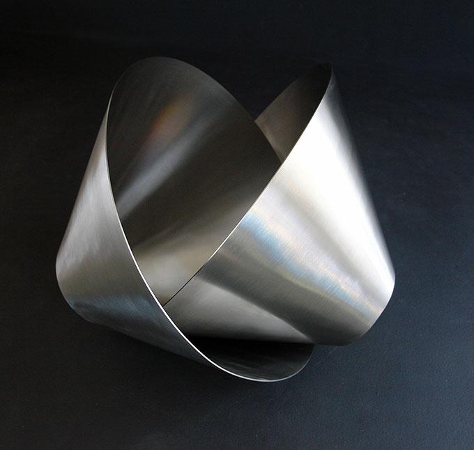 KORBAN/FLAUBERT  'Maquette for Involute' 2009  stainless steel  Photo courtesy Stefanie Flaubert