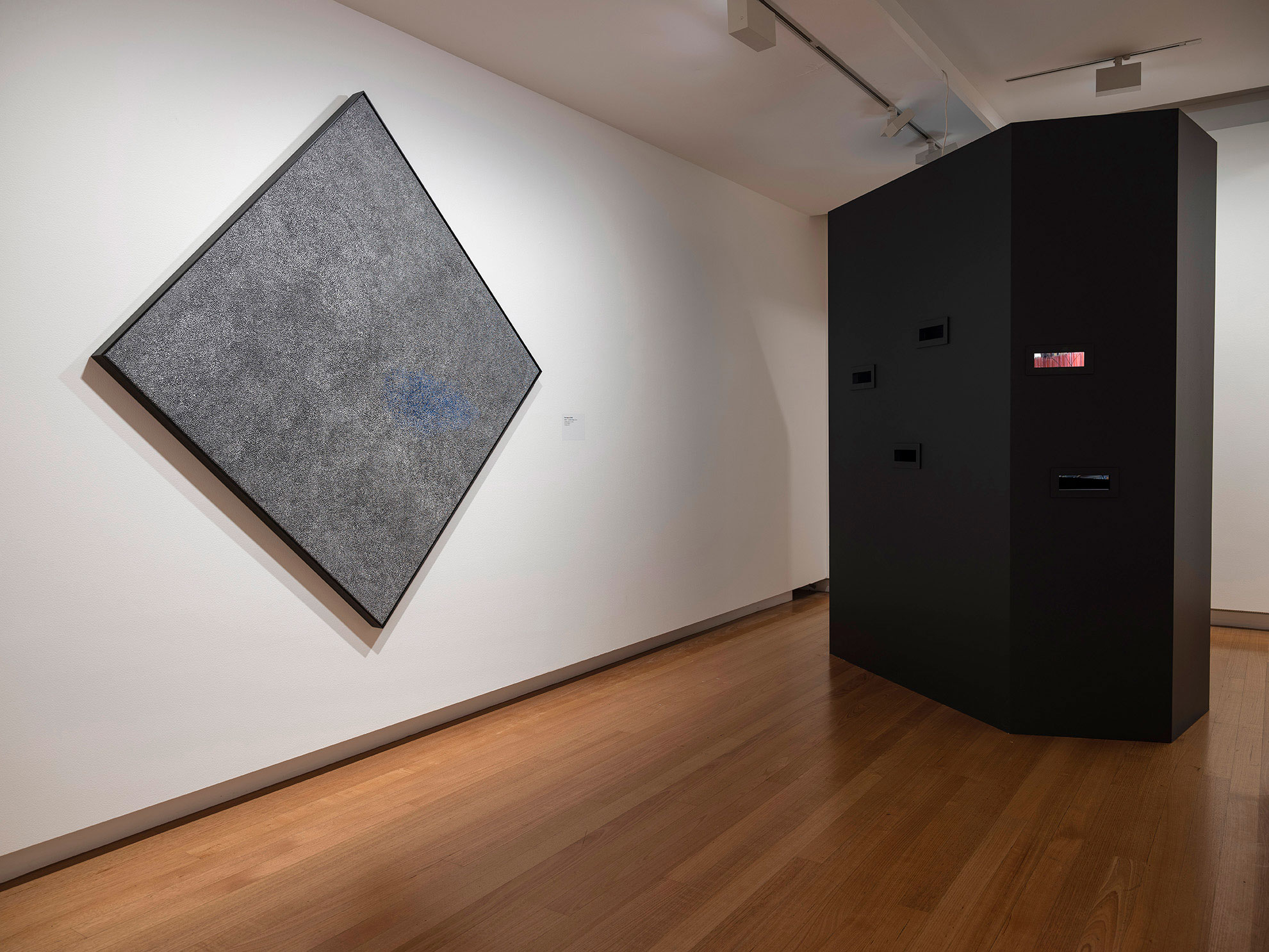 Installation view of 'Vis-ability: Artworks from the QUT Art Collection' (11 May - 4 August 2019), QUT Art Museum. Photo by Carl Warner.