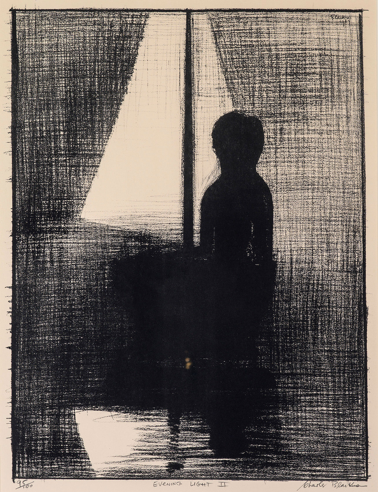 Charles BLACKMAN 'Evening light II' 1967 | lithograph | QUT Art Collection | Purchased by student donations, 1967 | Photo by Carl Warner.
