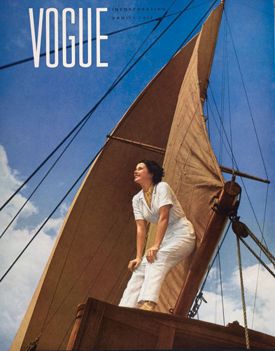 Anton Bruehl 'Model on Anton Bruehl's yacht,' Yarra 1935 | for 'Vogue', July 1935 | National Gallery of Australia, Canberra | Gift of American Friends of the National Gallery of Australia Inc., New York NY USA | made possible with the generous support of Anton Bruehl Jr, 2006