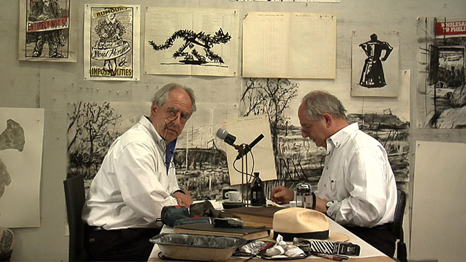 William KENTRIDGE 'Drawing lesson 47 (Interview for New York Studio School)</span> 2010 | single channel video, colour, sound | 4:48 minutes | Courtesy of the artist