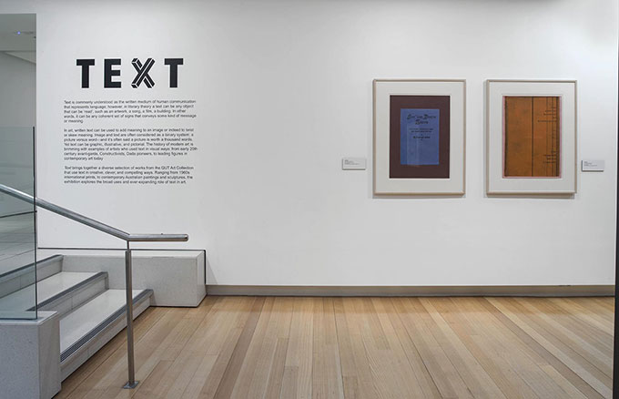 Installation view of 'Text' | Photo: Carl Warner