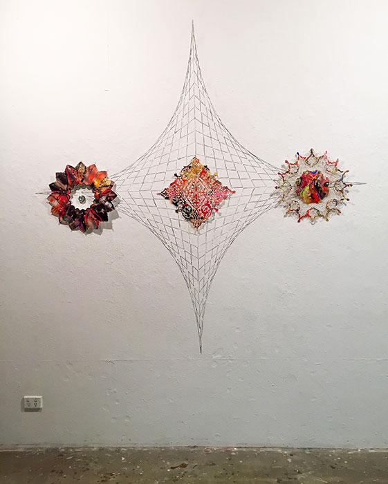 Dadfar FARNAZ, 'Shamseh #1, Shamseh #2, Shamseh #3', 2017, laser cut digital prints on paper. Courtesy the artist.