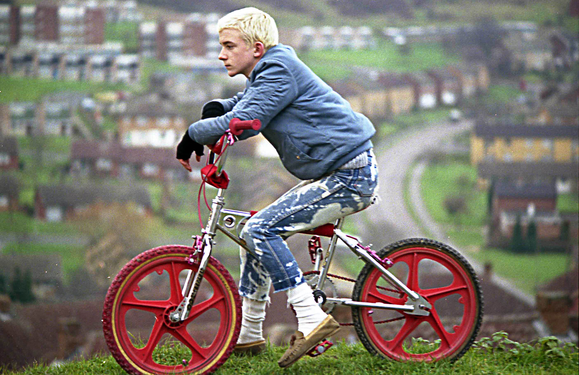 Gavin WATSON 'Neville Watson blond with BMX' 1980, Colour photograph on gloss paper, Courtesy of the artist