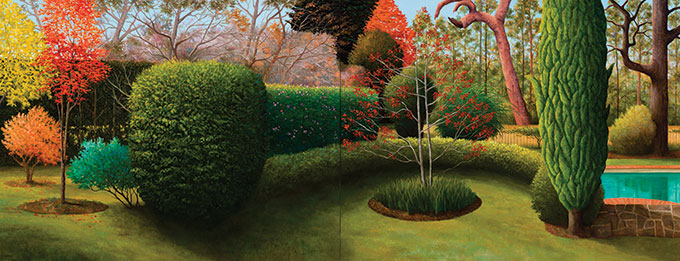 Leo ROBBA 'Big autumn, Hillston' 2012-13 | oil on canvas (diptych) | Courtesy of the artist and King Street Gallery on William, Sydney