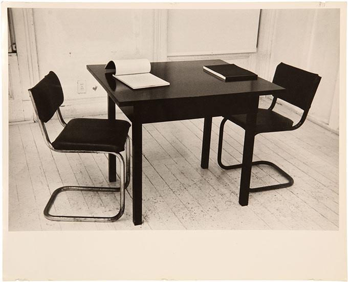 Ian BURN 'Installation photograph for Xerox Books', Pinacotheca 1969 | black and white photograph | © Estate of Ian Burn