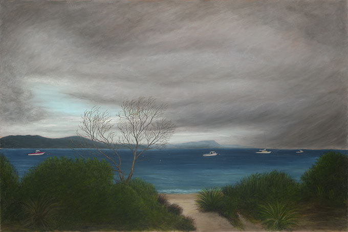 Alexander BEECH 'Adventure Bay, Bruny Island' 2016. Oil on canvas, Courtesy the artist.