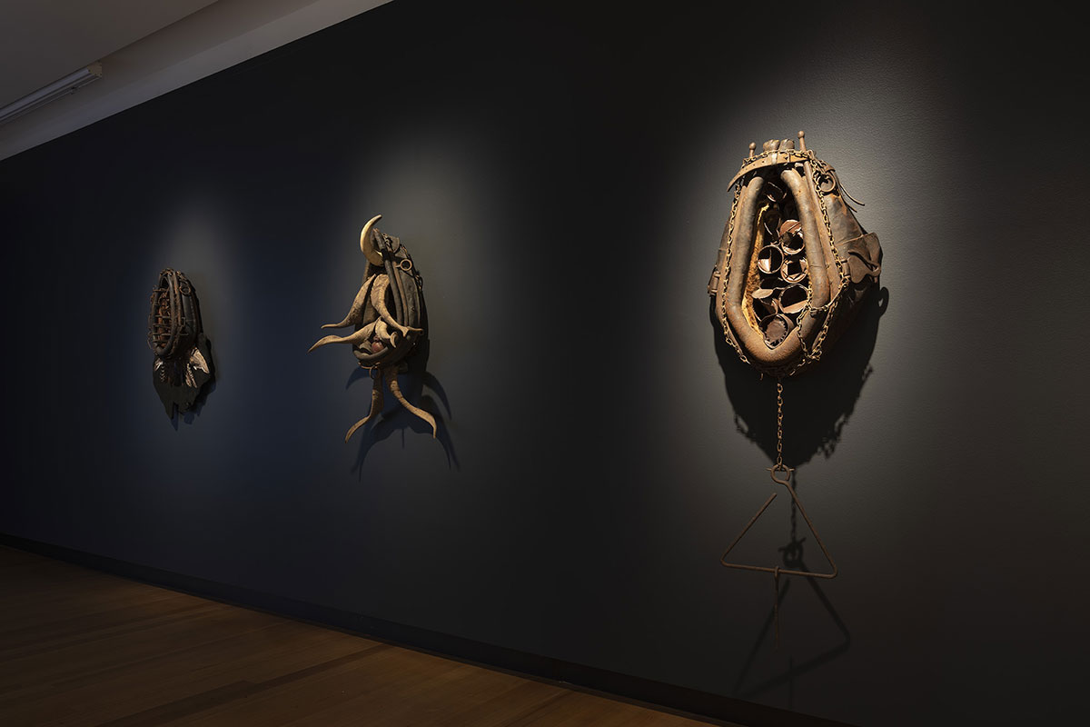 Installation view of 'Rite of Passage', pictured work by Karla Dickens, QUT Art Museum, 2019. Photo by Carl Warner.