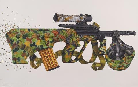 eX de Medici 'Bullpup' 2009 | watercolour on paper | AWM ART94228