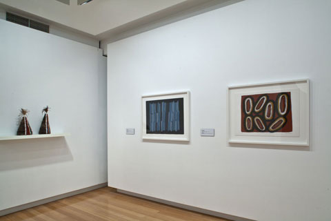 Installation view of 'Marrka: Exploring the strength of QUT's Indigenous Art Collection' | Photo: Richard Stringer