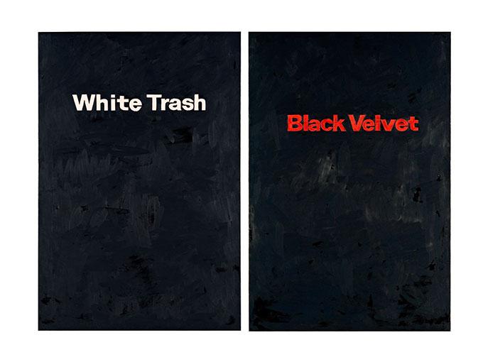 Fiona FOLEY 'White trash/Black velvet' 2010 | oil on linen | QUT Art Collection | Purchased 2013