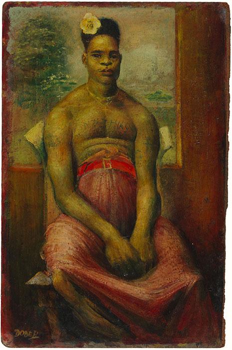 William DOBELL 'Mathias' 1953 | oil on hardboard | National Gallery of Australia, Canberra | Purchased 1976